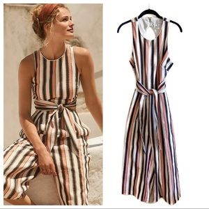 Anthropologie Adelyn Rae gidget jumpsuit in stripe